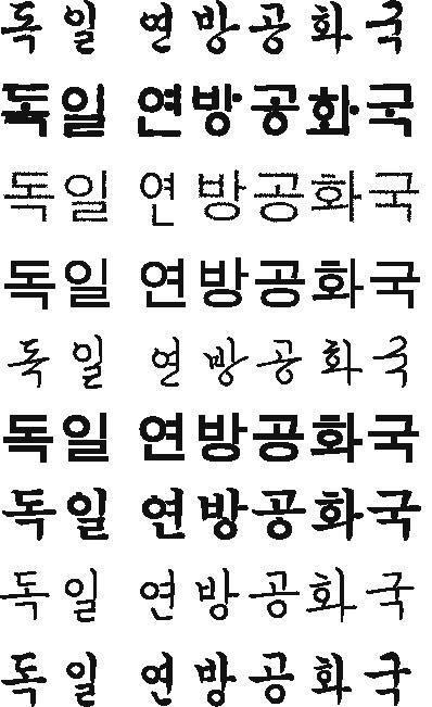 Schriftzeichen Koreanisch